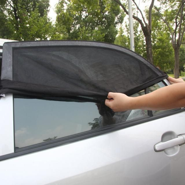 2x Car Rear Side Window UV Protector Sun Visor Shade Mesh Cover Shield Sunshade