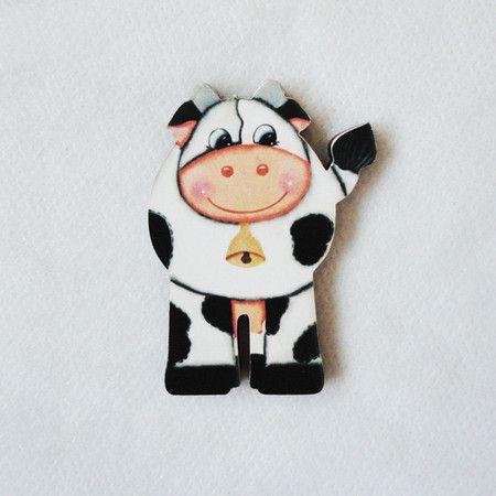 #AD110 - Aplique decorado de vaca