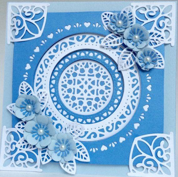 Layered Circular Floral Card  Handmade by funtasticpapercrafts