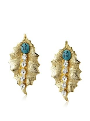 60% OFF Joanna Laura Constantine Leaf Earrings
