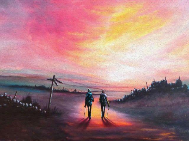 Artwork Lonely Hd Nature Love Friendship 4k Together Forever 4k Sunset Wallpaper Wallpaper Backgrounds Sunset Images
