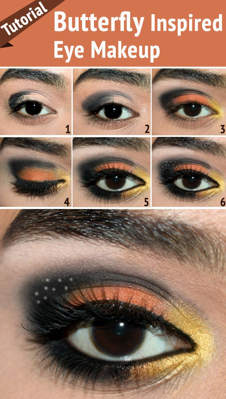 Love to have those vibrant colors on your eyes? Here is a butterfly eye makeup tutorial you can try for those beautiful butterfly inspired eyes.
