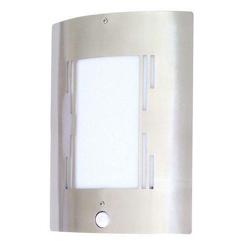 Ranex - Demi-applique à détecteur de mouvement Pisa, acier brossé Zone de détection: 100° x 7 m - 5000.091