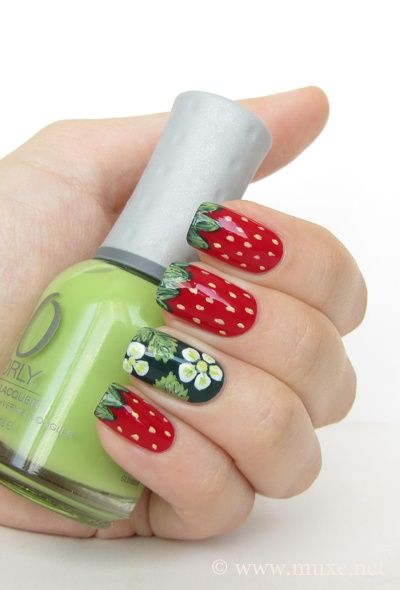 Best 25 strawberry nail art ideas on pinterest quirky diy nails perfect for the ulimate garden girlie p strawberry nail art design prinsesfo Images