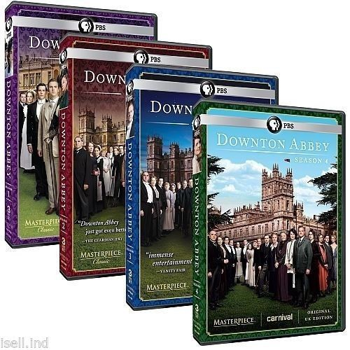 Masterpiece Classic: Downton Abbey DVD Seasons 1-4 Brand New!