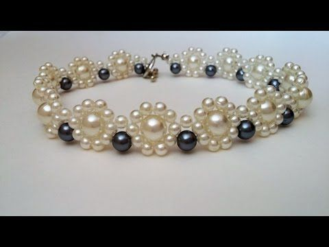 Gorgeous DIY wedding jewelry design. Pearl necklace and