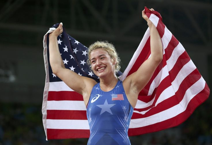 Helen Maroulis beats Japanese legend for first gold in U.S. women's wrestling…