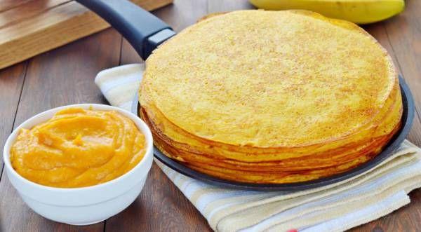 Тыквенные блины с тыквенно-банановым кремом, пошаговый рецепт с фото | Кулинарный портал