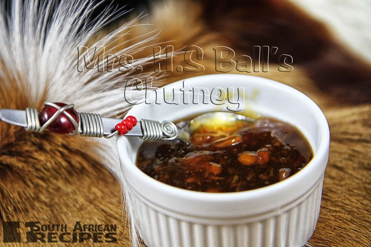 South African Recipes | MRS. H.S. BALL'S CHUTNEY