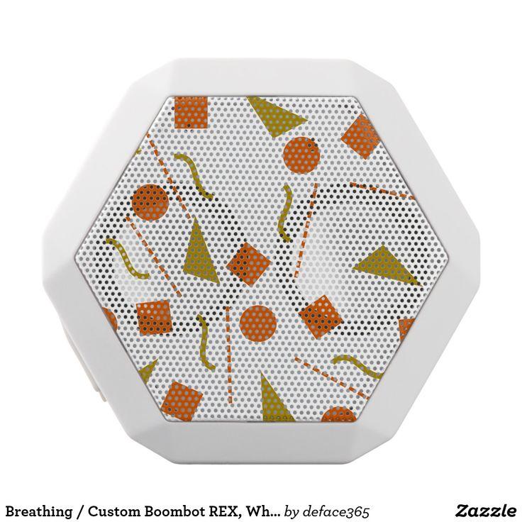 Breathing / Custom Boombot REX, White White Bluetooth Speaker