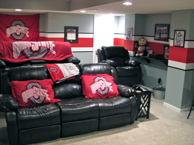 Ohio State Man Cave Furniture : Love the wall paint o h i pinterest colors