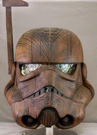 Māori Star Wars Stormtrooper helmet sculpture. By Daniel Logan + friends. #NZ