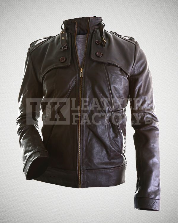"""As classy as Roger Federer and his decent soberness, the tribute genuine leather jacket is a unique sports leather jacket for active people. Smart and stylish and detailed with no extra frills or decorations. Simplistic is the mood of this jacket."""