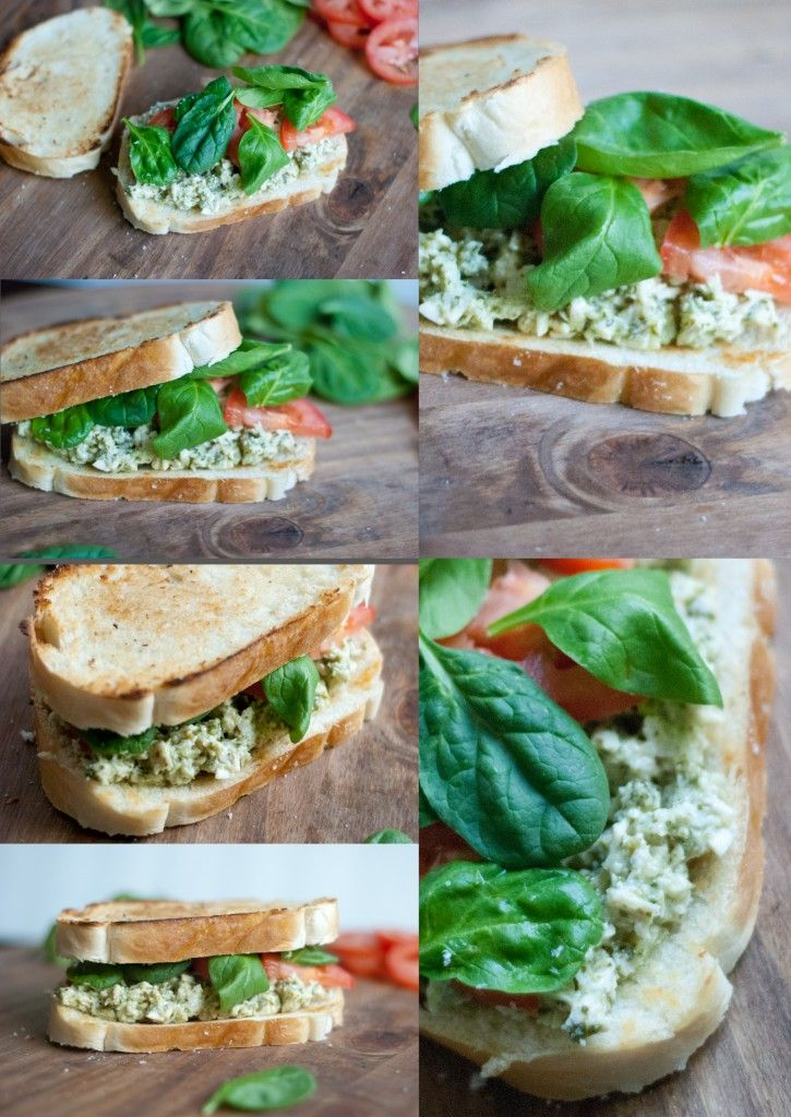 Pesto Chicken Salad Sandwich | foodsweet | foodsweet