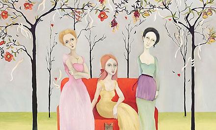 Three Graces - Cassandra Christensen Barney - World-Wide-Art.com - $595.00 #CassandraBarney