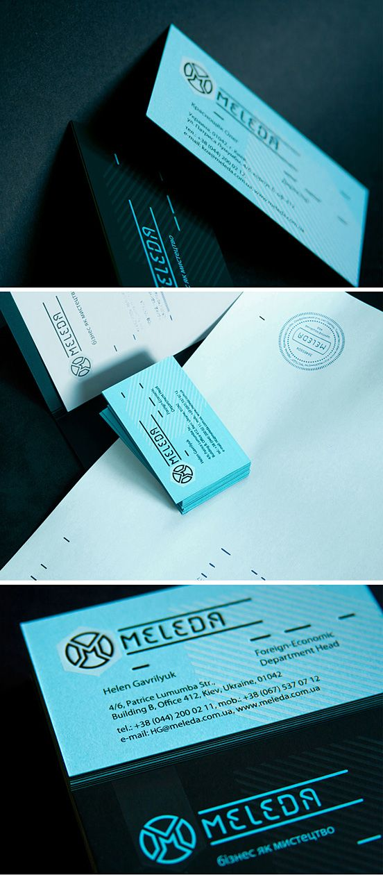 Meleda Business Cards   #Business #Card #letterpress #creative #paper #bizcard #businesscard #corporate #design #visitenkarte #corporatedesign < repinned by www.BlickeDeeler.de   Have a look on www.LogoGestaltung-Hamburg.de