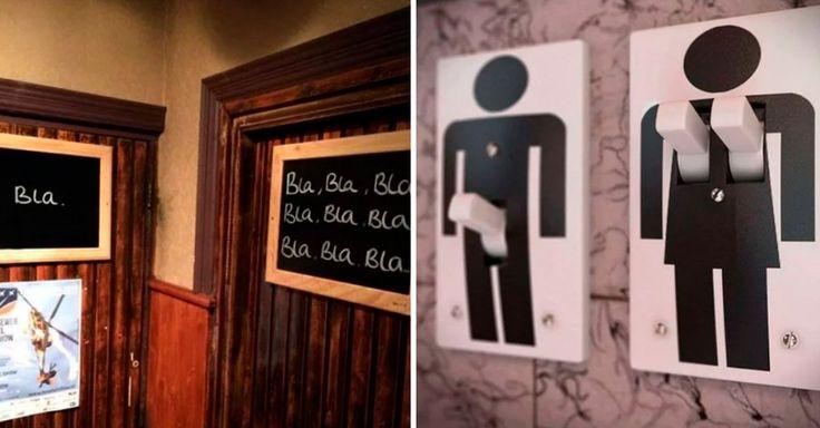 Los 10 letreros de baño más geniales del mundo que explican las diferencias entre hombres y mujeres – Oso Ted