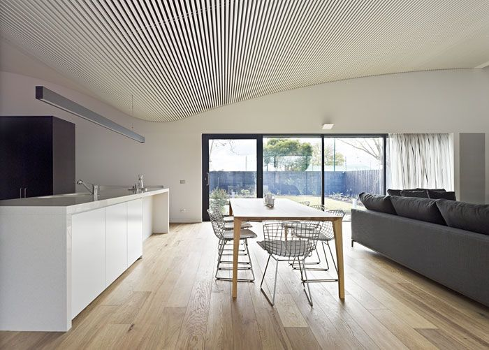 white Smoked American Oak timber floors by Royal Oak Floors.  www.royaloakfloors.com.au  Architecture: Ashley Lochhead Architects  Photo: Peter Bennetts