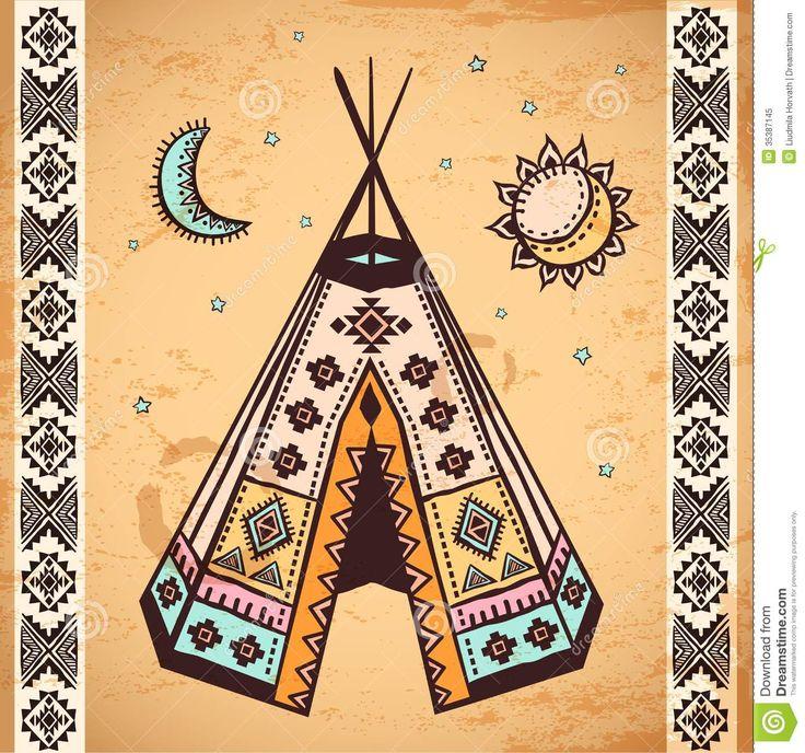 Native American Animal Symbols | Tribal vintage native American set of symbols.