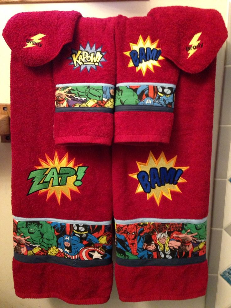 I have a couple of sets like this listed, this one is the latest custom order I did. An all red towel set and it looks fantastic! It is a set of 6 pieces total. 2 full size bathroom towels in red. Emb