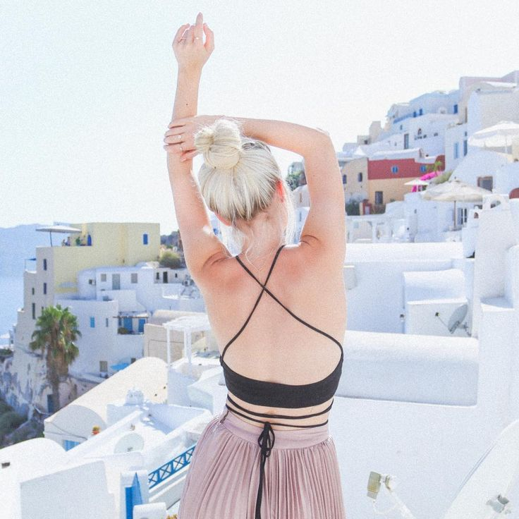 """Aspyn Ovard on Instagram: """"I love Santorini Ps like this pic if you want to see our engagement video! #lovelulus"""""""