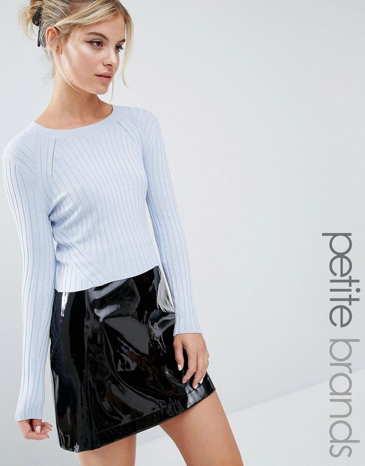 Miss Selfridge Petite Rib Cropped Jumper