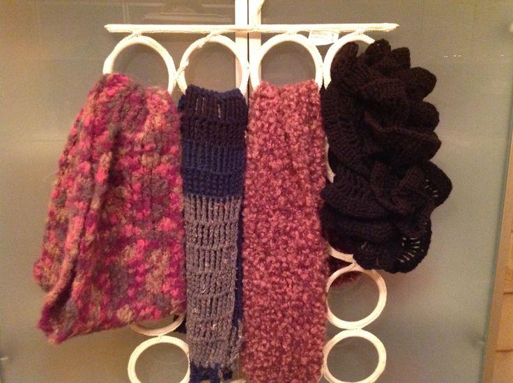 Sciarpe fatte a mano maglia e uncinetto