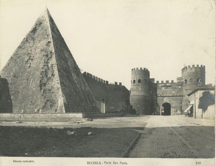 Roma, Porta San Paolo Vintage print Tirage argentique 21x27 Circa 1900