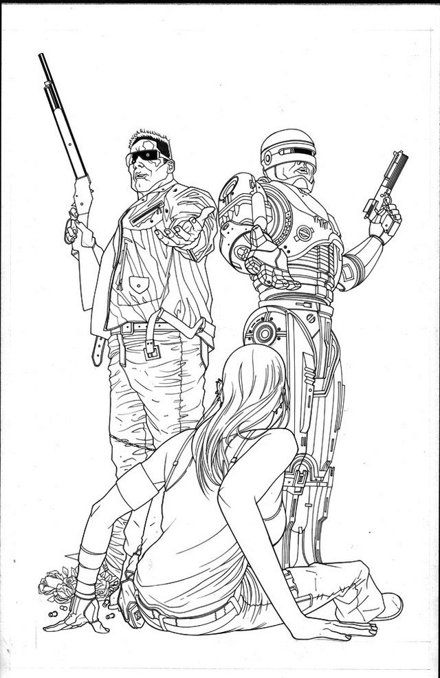 Robocop Coloring Pictures
