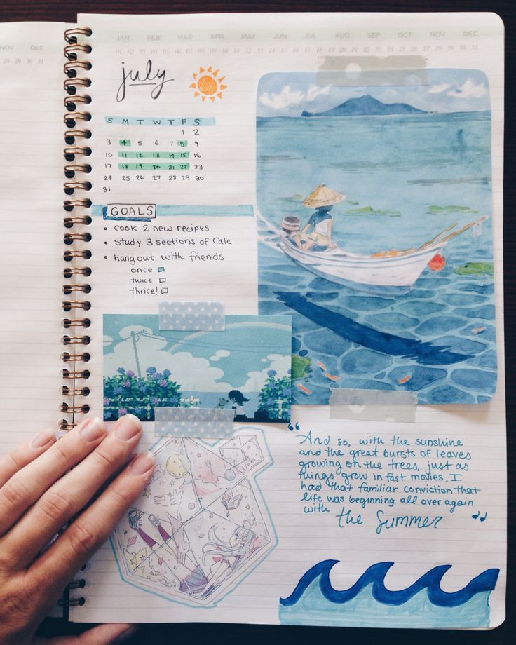 "diplomatsun: """"my july spread! 7 days in, but still good :) "" "" More"