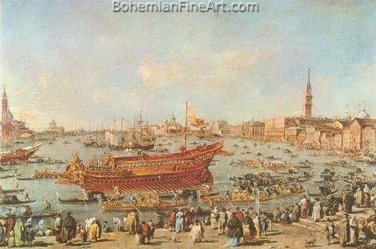 Francesco Guardi, The Departure of Bucentaur for the Lido Fine Art Reproduction Oil Painting