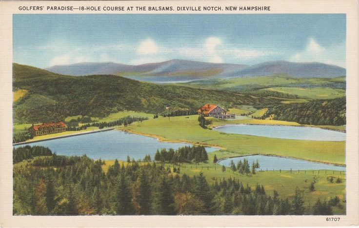 Balsams Golf Course Dixville Notch New Hampshire Vintage Postcard Linen