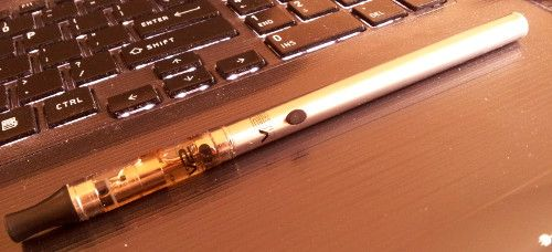 V2 Cigs silver electronic cigarette, my favorite, it's slim, light, and looks awesome.
