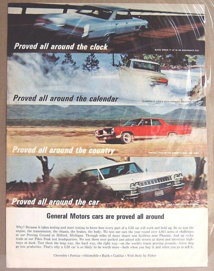 Vintage Advertising GM General Motors Cars Autos Print Ad Color Original 1964  #vintageadvertising #GM #GeneralMotors #gearhead #classiccars #vintagecars #1960s