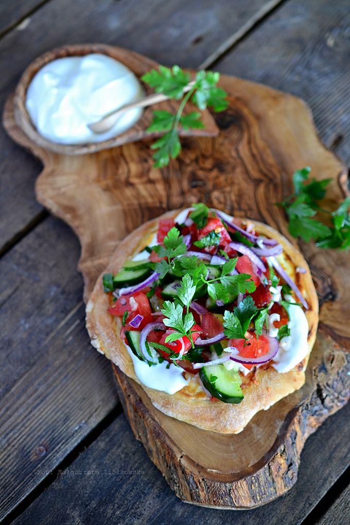 "Fresh tomato salsa & Greek yogurt "" bread """