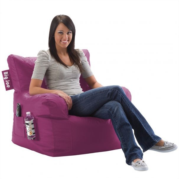 Dorm Chair Radiant Orchid With Images Dorm Chairs Bean Bag