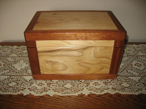 Hand+Made+Solid+Wood+Funeral+Urn