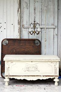 Furniture Makeover. How to age paint or antique furniture