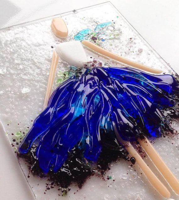 Ballerina fused glass by SevenGlassElena