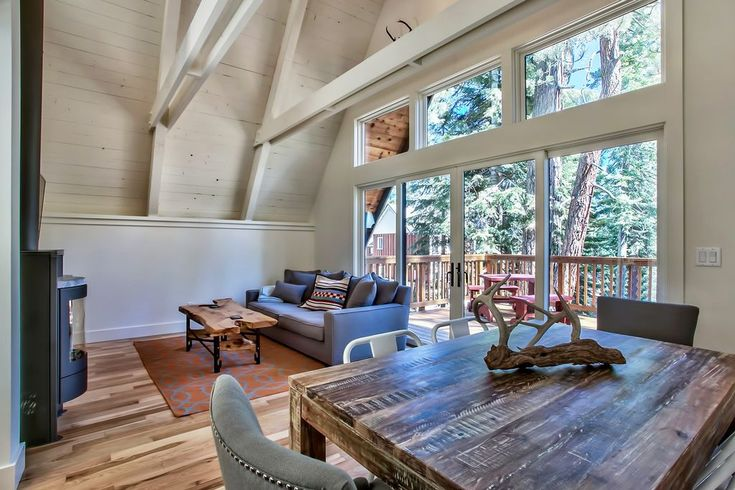 Lake Tahoe Cabin - An 800 square feet cabin tucked in the woods next to Lake Tahoe in Carnelian Bay, CA.   pinned by haw-creek.com