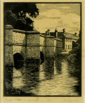 Burford Bridge on Windrush by W. Russell