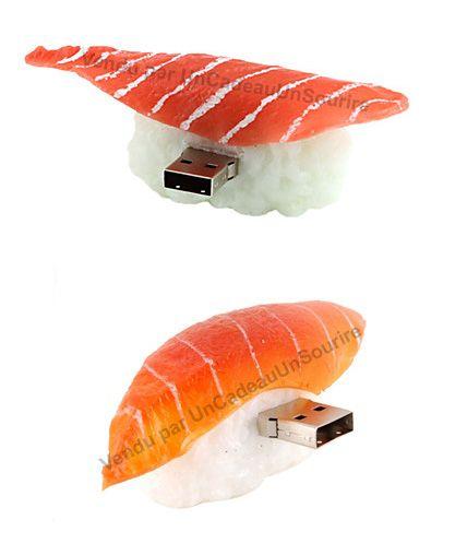cle usb humour sushi saumon 8 go humoristique idee cadeau. Black Bedroom Furniture Sets. Home Design Ideas