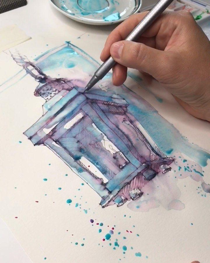 Watercolor Artist On Instagram The New Lantern Novyj