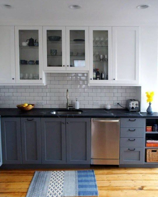 Cuisine Laxarby Ikea Cheap Ikea Ringhult Kitchen With: 1000+ Ideas About Budget Kitchen Remodel On Pinterest