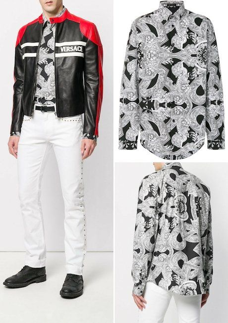 Top 9 Fashionable Long-sleeved Versace Shirts for Men in 2018