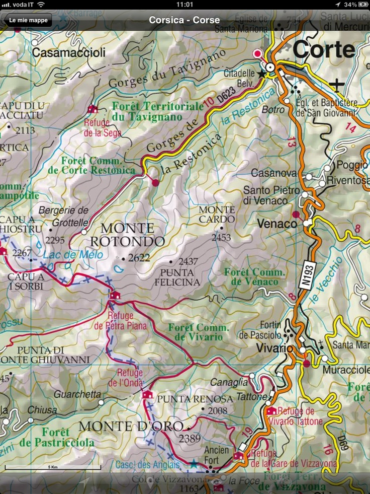 Soon available the new tourist road map of Corse