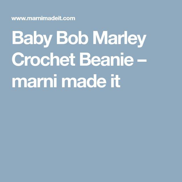 Baby Bob Marley Crochet Beanie – marni made it