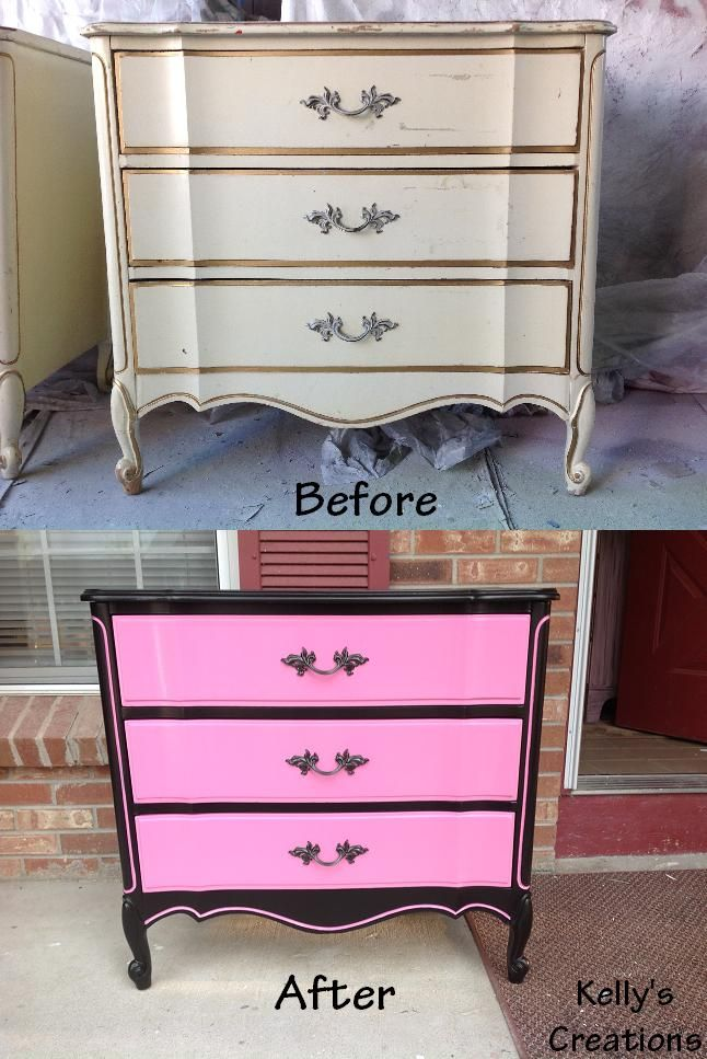 Pin By Kelly Nouis On Kelly S Creations Refinished Furniture Pink Furniture Painted Bedroom