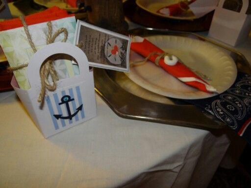 Ahoy. .. it's a boy. .. nautica. ..