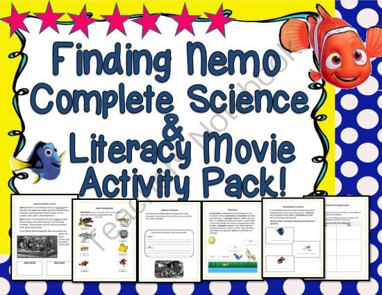 Finding Nemo Complete Science Literacy Movie Activity